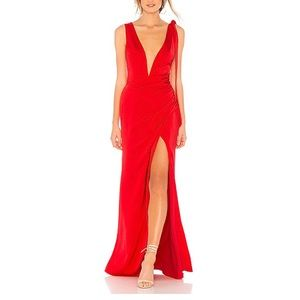 Lovers + Friends Patrick Gown in Red small